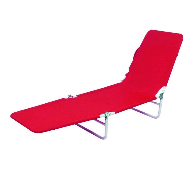 beach lounge chair red