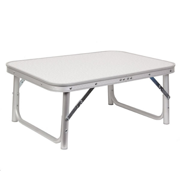 Height adjustable camping garden table