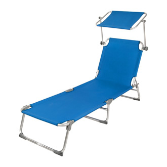 folding Chaise Lounge with sun shade